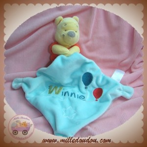 DISNEY NICOTOY SOS DOUDOU WINNIE L'OURSON MOUCHOIR BLEU BALLON