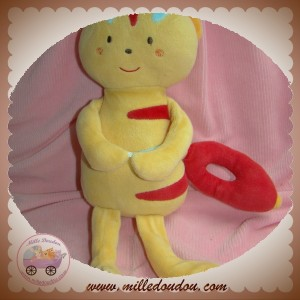 SUCRE D'ORGE SOS DOUDOU OURS INDIEN ORANGE MUSICAL SOURIS ROUGE