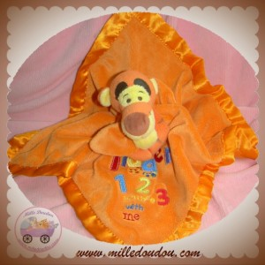 DISNEY SOS DOUDOU TIGROU PLAT ORANGE SATIN TIGGER