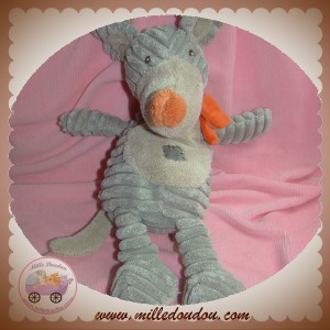 TEX SOS DOUDOU SOURIS GRIS BEIGE ECHARPE ORANGE BENGY