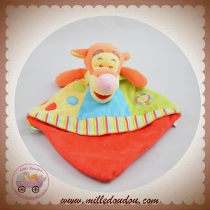 DISNEY SOS NICOTOY DOUDOU TIGROU PLAT ORANGE JAUNE ROUGE LION RONDS
