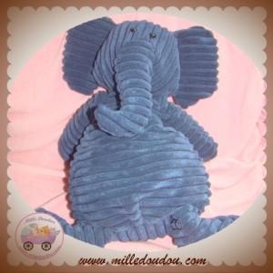JELLYCAT SOS DOUDOU ELEPHANT BLEU COTELE 40 CM