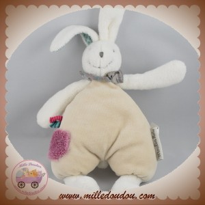 MOULIN ROTY SOS DOUDOU LAPIN BLANC CORPS BEIGE HOCHET