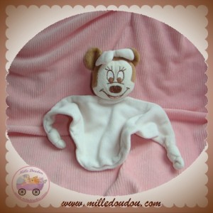 DISNEY SOS DOUDOU MINNIE MARRON PLAT BLANC ROSE CLAIR