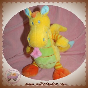 NICOTOY SOS DOUDOU DRAGON JAUNE ORANGE
