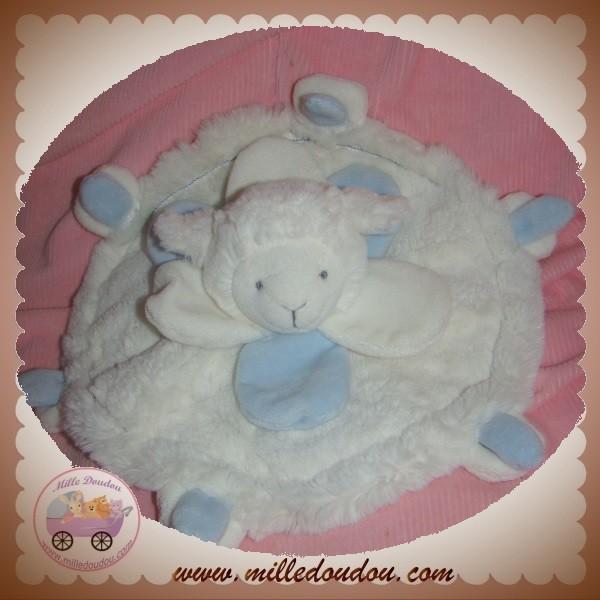 doudou et compagnie sos agneau mouton plat blanc bleu. Black Bedroom Furniture Sets. Home Design Ideas
