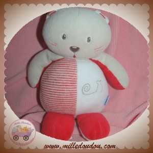 SUCRE D'ORGE SOS DOUDOU CHAT GRIS BLANC ROUGE RAYE