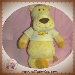 BABYNAT BABY NAT SOS DOUDOU LION JAUNE T SHIRT 40 CM