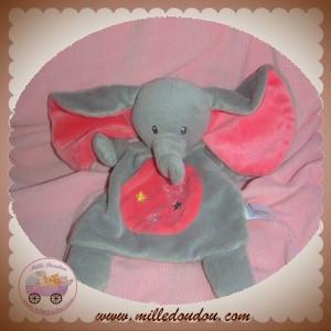 NICOTOY SOS DOUDOU ELEPHANT PLAT GRIS ROSE ETOILES