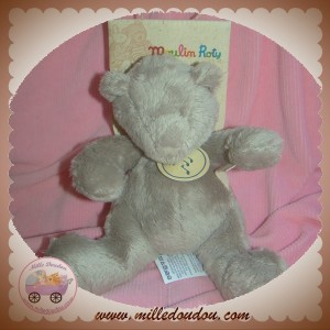 MOULIN ROTY SOS DOUDOU OURS BASILE ET LOLA GRIS MUSICAL