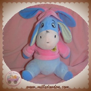 DISNEY SOS DOUDOU BOURRIQUET BLEU MAUVE SWEAT ROSE WINNIE