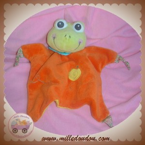 AURORA BABY SOS DOUDOU GRENOUILLE MARIONNETTE ORANGE ESCARGOT