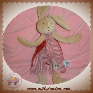 MOULIN ROTY SOS DOUDOU LAPIN BEIGE PLAT RAYE ROUGE SYLVAIN
