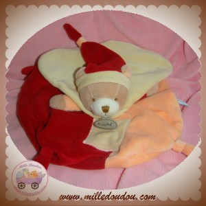 BABYNAT BABY NAT SOS DOUDOU OURS PLAT ORANGE ROUGE CAPE JAUNE