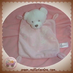 NICOTOY SOS DOUDOU OURS BLANC PLAT ROSE FLUORESCENT