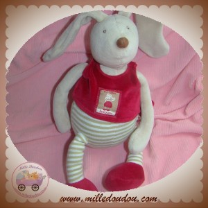 MOULIN ROTY SOS DOUDOU LAPIN BEIGE SHORT ROUGE LINVOSGES MUSICAL