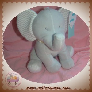 TEX SOS DOUDOU ELEPHANT GRIS ASSIS MUSICAL