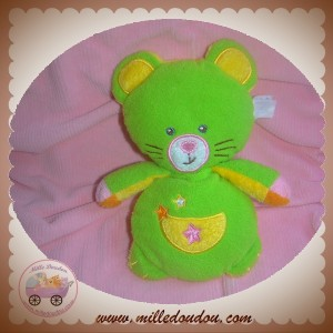 GIPSY SOS DOUDOU CHAT OURS JAUNE VERT COEUR ETOILE BRUIT FROISSE