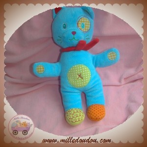 NICOTOY SOS DOUDOU CHAT OURS BLEU ROND VERT CROIX