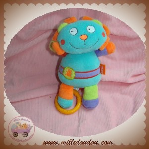 BABYSUN SOS DOUDOU LION VERT ORANGE VIOLET MUSICAL
