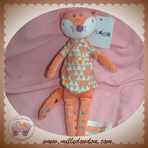 KIMBALOO SOS DOUDOU RENARD ROSE ROBE TRIANGLE