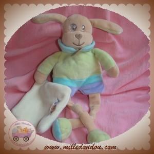 BABYNAT BABY NAT SOS DOUDOU CHIEN BEIGE VERT MOUCHOIR COEUR