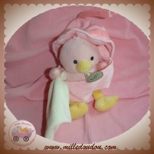 BABYNAT BABY NAT SOS DOUDOU POUSSIN CANARD ROSE COQUILLE MOUCHOIR ECRU