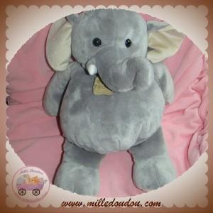 HISTOIRE D'OURS SOS DOUDOU ELEPHANT GRIS 40 cm