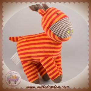 ORCHESTRA SOS DOUDOU RENNE ORANGE RAYE ROUGE MARRON