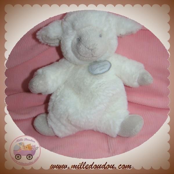 doudou et compagnie sos agneau mouton blanc gris taupe 18 cm. Black Bedroom Furniture Sets. Home Design Ideas