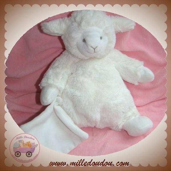 doudou et compagnie sos agneau mouton ecru mouchoir gris. Black Bedroom Furniture Sets. Home Design Ideas