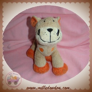 NICOTOY SOS DOUDOU GIRAFE BEIGE MARRON ORANGE