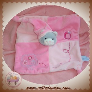 GIPSY SOS DOUDOU CHAT GRIS PLAT ROSE NOEUD POMMIER