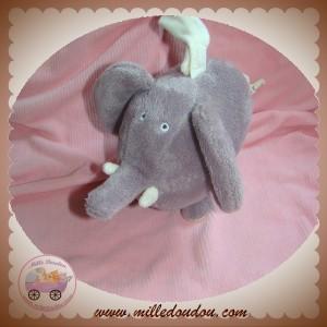 DPAM SOS DOUDOU ELEPHANT GRIS ECRU MUSICAL DU PAREIL AU MEME