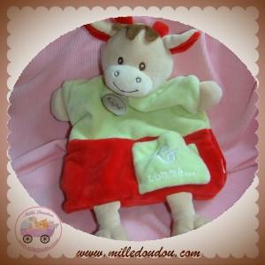 BABYNAT BABY NAT SOS DOUDOU GIRAFE VERT ROUGE MARIONNETTE G COMME