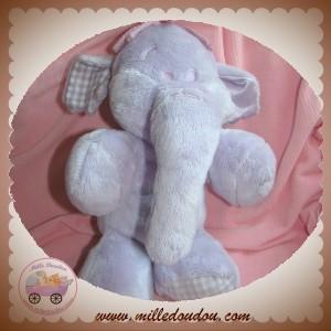 DISNEY SOS NICOTOY SOS DOUDOU ELEPHANT MAUVE VICHY 28 CM