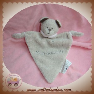 BABY ON BOARD SOS DOUDOU OURS GRIS MARRON PLAT ROSE HOCHET