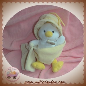 BABYNAT BABY NAT SOS DOUDOU POUSSIN CANARD BLANC COQUILLE MOUCHOIR JAUNE CLAIR
