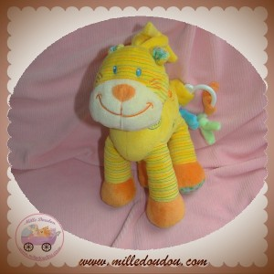 NICOTOY SOS DOUDOU LION CHAT JAUNE MUSICAL