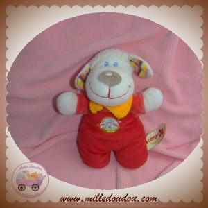 NICOTOY SOS DOUDOU MOUTON ROUGE FOULARD ORANGE