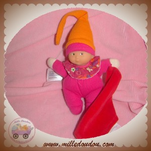 COROLLE SOS DOUDOU POUPEE ROSE MOUCHOIR ROUGE MINIREVE BONNET ORANGE