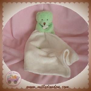 BABYNAT BABY NAT DOUDOU OURS VERT MOUCHOIR SOS