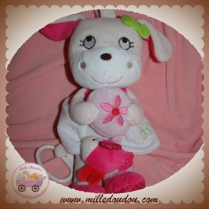 INFLUX SOS DOUDOU CHIEN MUSICAL ROBE BLANC ROSE