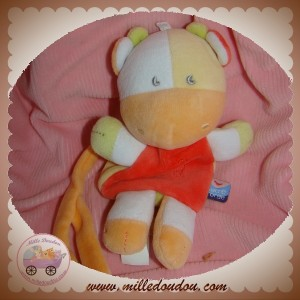 SUCRE D'ORGE SOS DOUDOU GIRAFE ORANGE ROUGE MOUTON ATTACHE TETINE