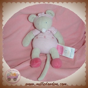 MOULIN ROTY SOS DOUDOU SOURIS LILA GRISE RAYE ROSE HOCHET