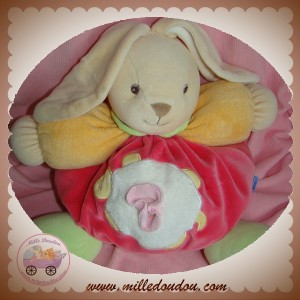 KALOO SOS DOUDOU LAPIN BOULE ROSE TORTUE ORANGE VERT