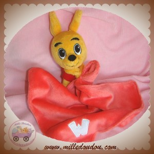 WALIBI SOS DOUDOU KANGOUROU ORANGE PLAT MOUCHOIR ROSE