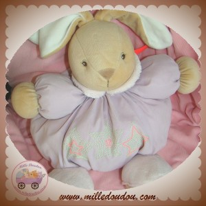 KALOO SOS DOUDOU LAPIN BOULE VIOLET ETOILE WINTER FOLLIES