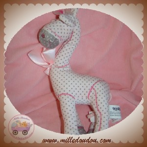TAPE A L'OEIL SOS DOUDOU GIRAFE ROSE A POINT GRIS HOCHET
