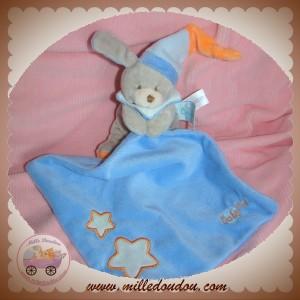 BABYNAT BABY NAT SOS DOUDOU CHIEN LAPIN GRIS BLEU ORANGE ETOILE FLUORESCENT MOUCHOIR